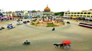 Mysore India Traffic Circle